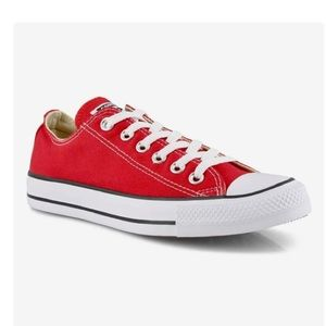 Converse All Star Red Low Top Sneakers
